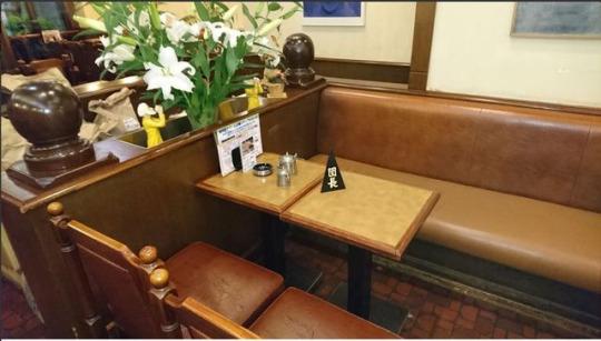 Некий столик в некоем кафе