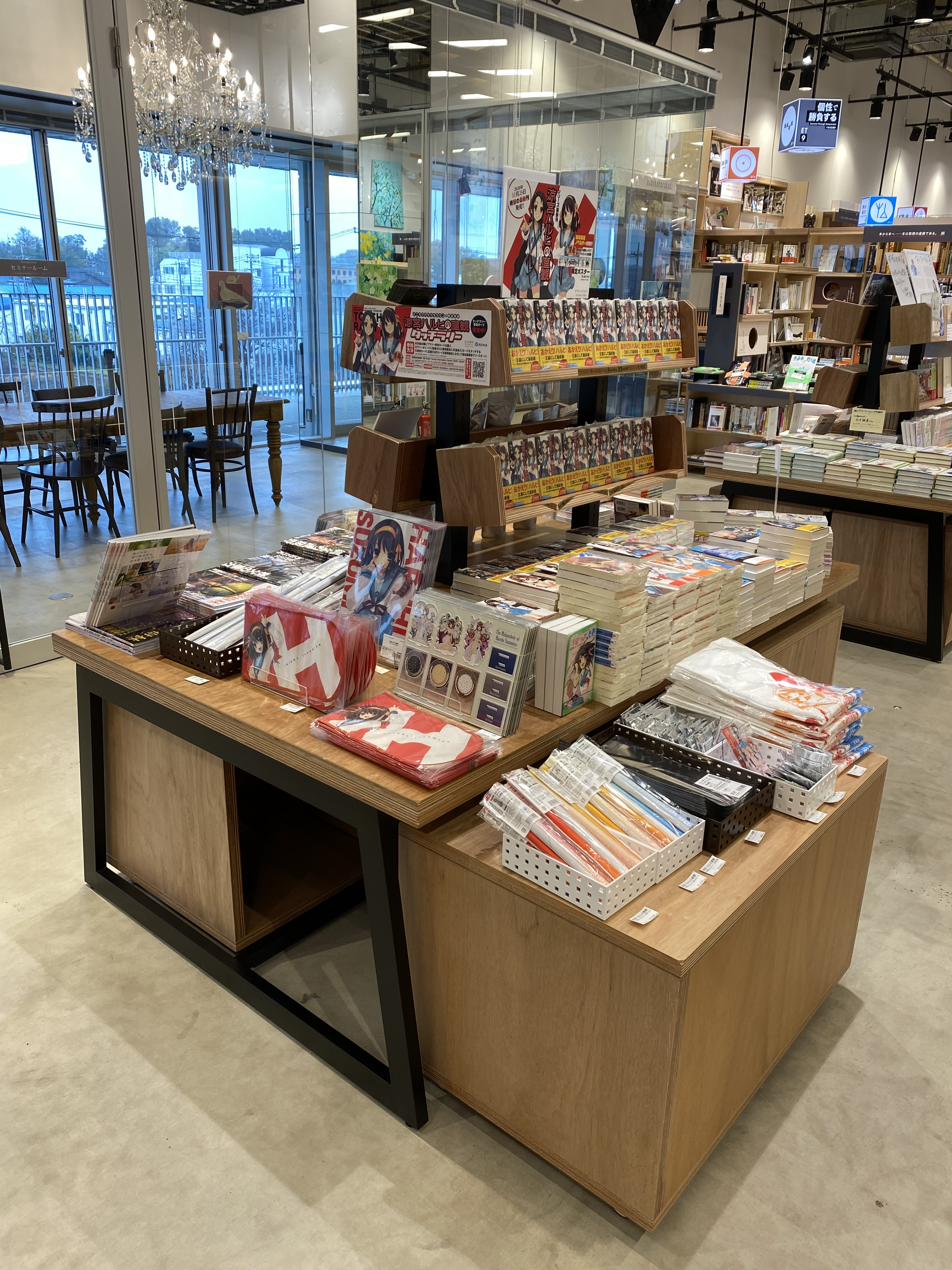 Стойка с книгами в другом магазине
