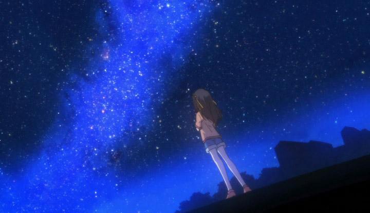 картинка девушка смотрит на звезды